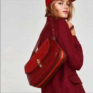 Zara Crossbody Bag with Foldover Flap